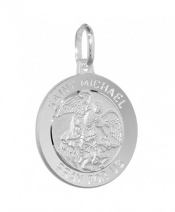 Sterling Silver Michael Medal Necklace in Women's Pendants