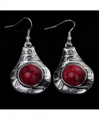 YAZILIND Vintage Round Dangle Earrings