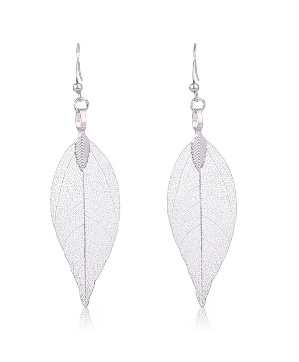 3851edf4a Filigree Leaf Earrings Ethnic Bohemian Women S Metallized