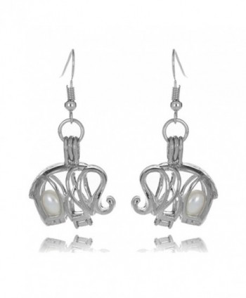 HENGSHENG Freshwater Cultured Elephant Earrings - Style 9 - CJ184AWIAKL