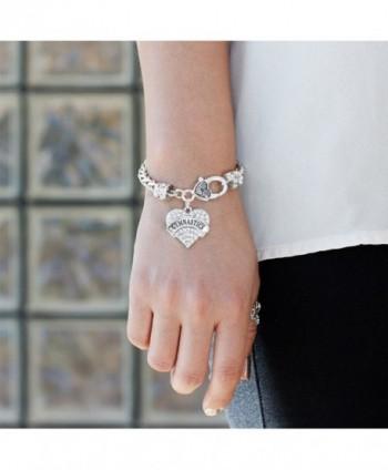 Gymnastics Bracelet Silver Lobster Crystal in Women's Link Bracelets