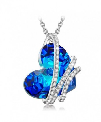 "NinaQueen ""Obsessed"" 925 Sterling Silver Pendant Necklace Made with SWAROVSKI Crystal - C712HS2TA09"