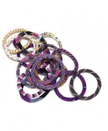 WigsPedia Handmade Crochet Glass Bracelet