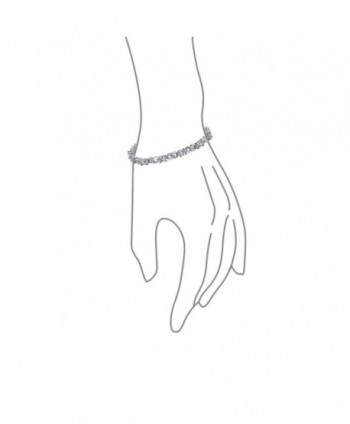 Bling Jewelry Infinity Bracelet Rhodium