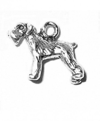 Sterling Silver 3D Small Schnauzer Bobtail Pet Dog Breed Animal Charm - CK11GR8TCRN
