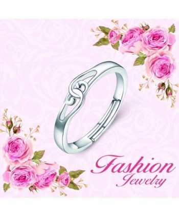 Sterling Silver Infinity Knot Adjustable in Women's Band Rings