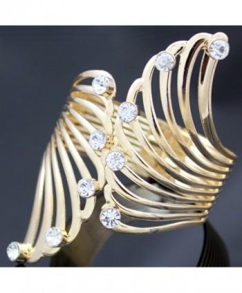 Fashion Guardian Crystal Hinged Bracelet in Women's Cuff Bracelets