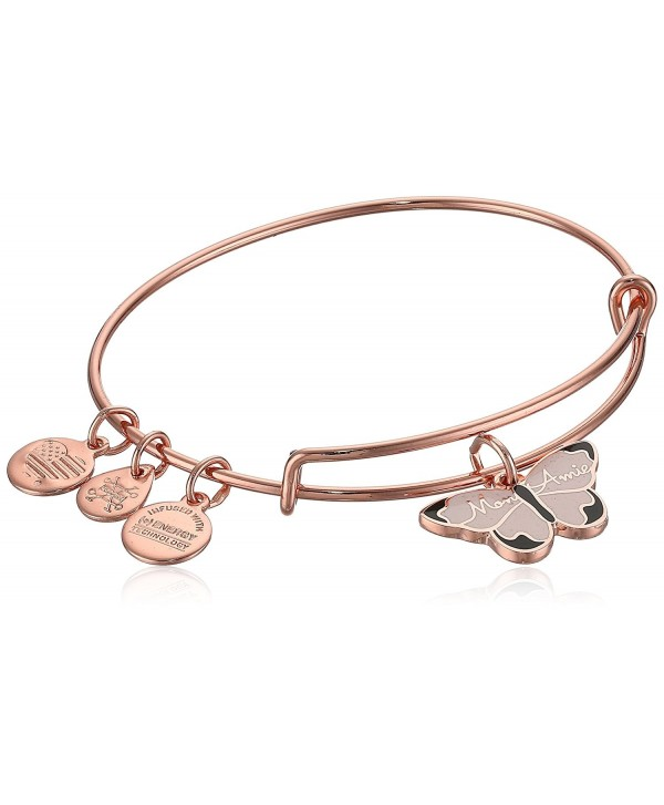Alex and Ani Color Infusion- Mon Ami Butterfly EWB- Shiny Rose- Expandable - C3187DUTX3L
