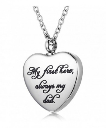 Udalyn Cremation Necklace Keepsake Memorial Pendant Heart Shaped Urn Chain for Parents Friends Lovers - C6187LMRGKG