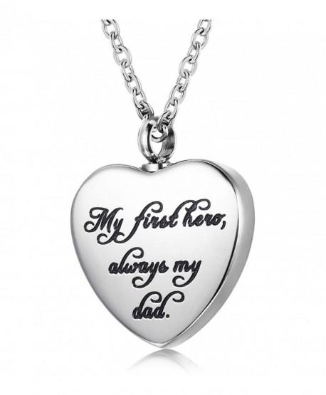 Udalyn Cremation Necklace Keepsake Memorial Pendant Heart Shaped Urn Chain for Parents Friends Lovers - C6187LMRGKG