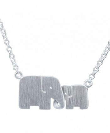 "NOVICA .925 Sterling Silver Handmade Elephant Pendant Necklace- 17.5"" 'Family Love' - C411CGY7229"