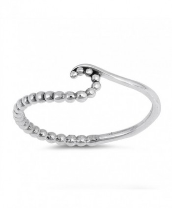Ball Bead Wave Cute Thin Statement Ring New .925 Sterling Silver Band Sizes 3-10 - CI12OD3QBUB