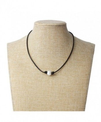 Bonnie Handmade Freshwater Necklace Leather