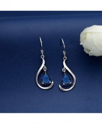 EVER FAITH Sterling Teardrop Earrings