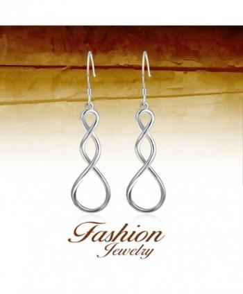 YFN Valentines Sterling Infinity Earrings