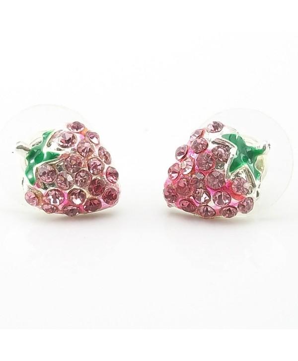DaisyJewel Bling Berry Stud Earrings - CG11FDP21FV