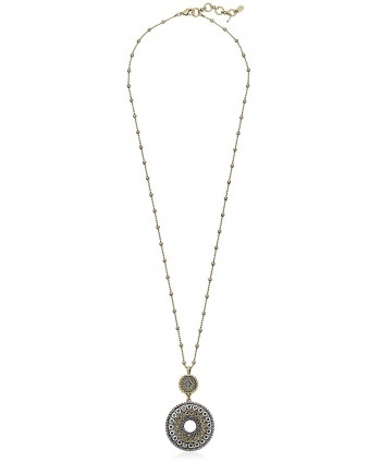 Lucky Brand Womens Tribal Pendant Necklace - Two Tone - CO125LLH0CP