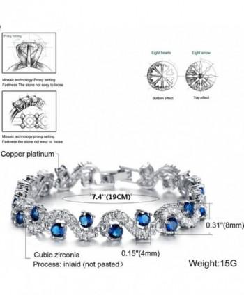 Rhinestone Bracelet Zirconia Crystal Christmas in Women's Tennis Bracelets
