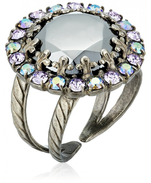 Sorrelli Circular Crystal Adjustable Ring - C6115TM5LHN