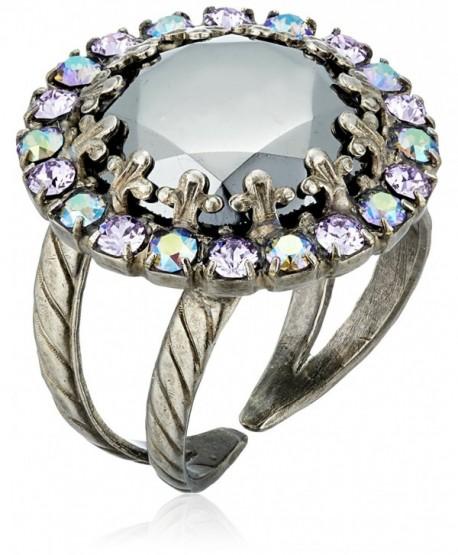 Sorrelli Circular Crystal Adjustable Ring - C6115TM5LHN