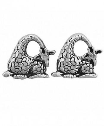 Corinna-Maria 925 Sterling Silver Giraffe Earrings Studs Tiny Mini Stainless Steel Posts and Backs - CU115ZT4013