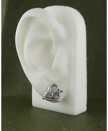 Corinna Maria Sterling Giraffe Earrings Stainless