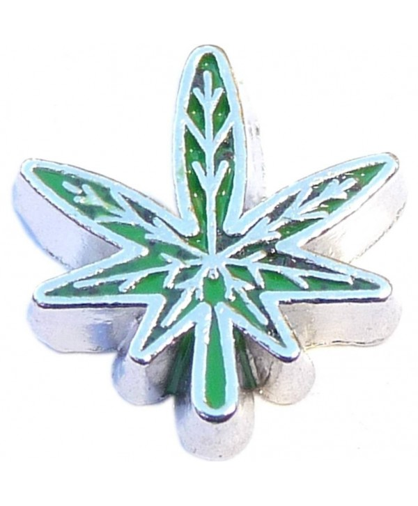 Pot Leaf Floating Locket Charm - C311H0H9YA9