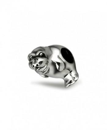 Ohm Beads Sterling Silver Manatee Bead Charm - CQ11V93WVWJ