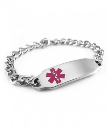 MyIDDr - Pre-Engraved & Customizable Blood Thinners Alert ID Bracelet- Purple Symbol - CG116IZVMRX