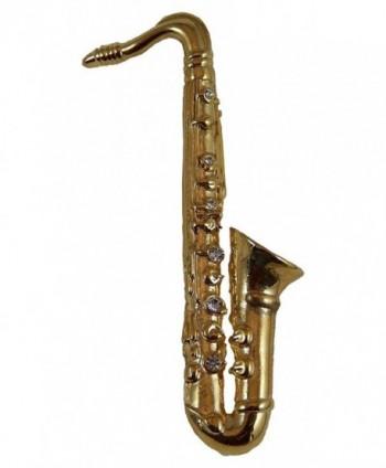 Saxophone Pin with Rhinestones - CZ12OCHA3NC