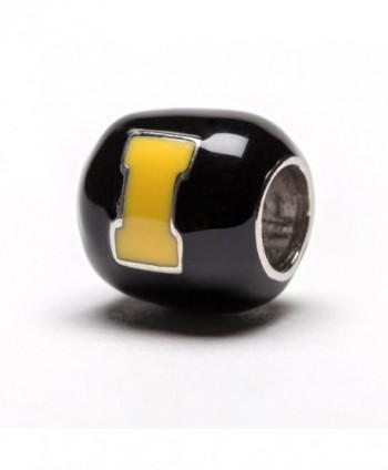 Hawkeyes Black Yellow Block Round in Women's Charms & Charm Bracelets