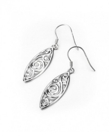 Sterling Silver Polished Filigree Earrings