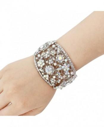 EVER FAITH Bracelet Iridescent Silver Tone