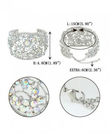 EVER FAITH Bracelet Iridescent Silver Tone in Women's Bangle Bracelets