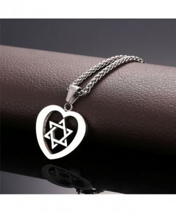 Stainless Steel David Pendant Necklace in Women's Pendants