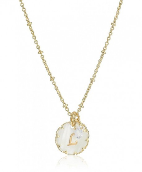 Lonna & Lilly Gold Tone Initial Pendant Necklace - C4186SNS6WW