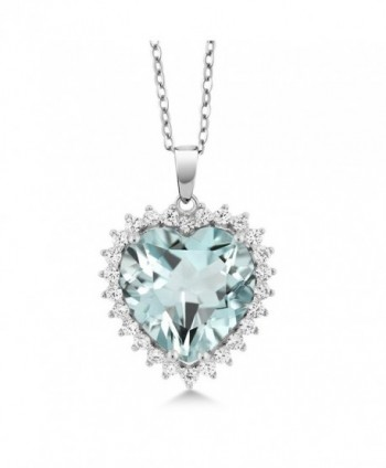 """0.5"""" 925 Sterling Silver Heart Shape Pendant With Complimentary 18"""" Chain - CC183MHTM52"""