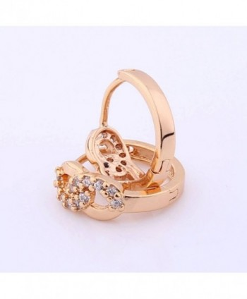 GULICX Infinity Earrings Plated Zirconia in Women's Hoop Earrings