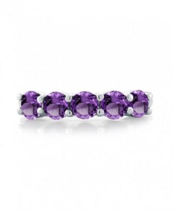 Purple Amethyst Sterling Silver 5 Stone