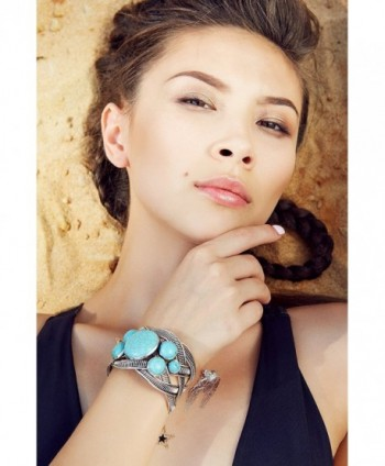 Filigree Bracelet Stones Bangle Turquoise