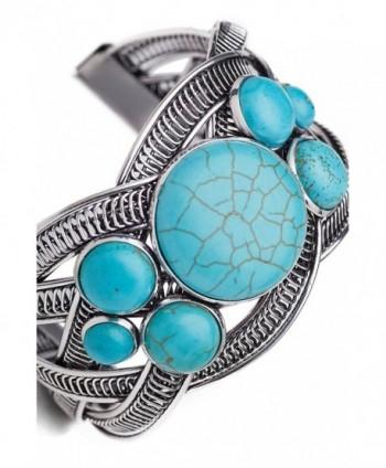 Filigree Bracelet Stones Bangle Turquoise in Women's Cuff Bracelets