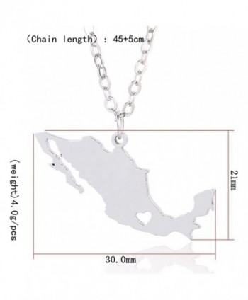 Silver Stainless Pendant Necklace Mexico