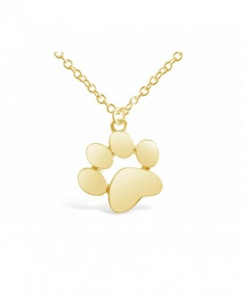 Rosa Vila Dog Paw Print Necklace for Dog Lovers - C312O7JCMHD