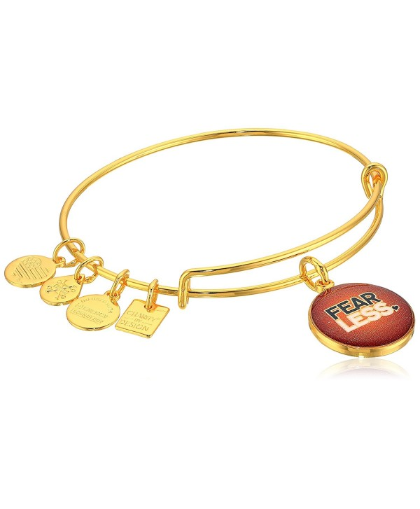 Alex and Ani Womens Charity By Design Fearless Bangle - Yellow Gold - CZ12EU7W6VB