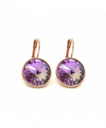 CP Bella Crystal Vitrail Light Rose Gold-plated Earrings Made with Swarovski Crystals - CI183LKDOIO
