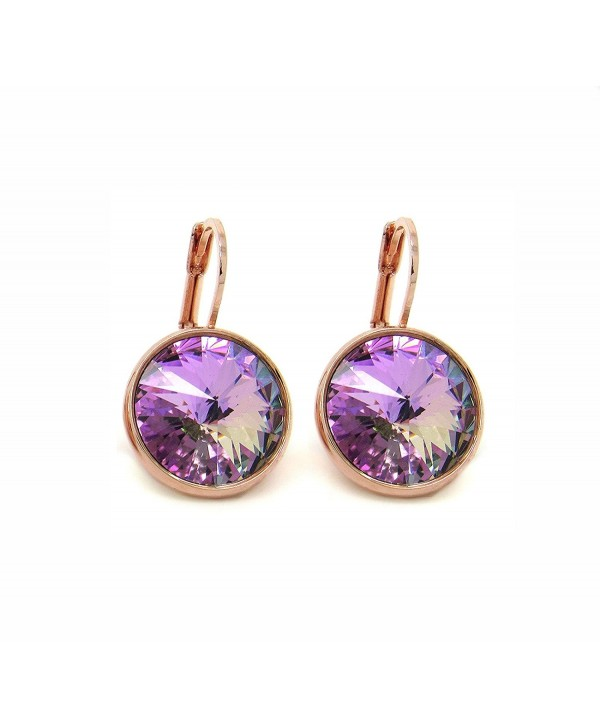 b0200bc4e CP Bella Crystal Vitrail Light Rose Gold-plated Earrings Made with Swarovski  Crystals - CI183LKDOIO