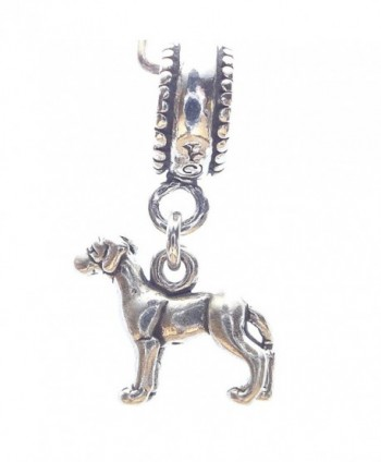 Great Dane Smaller Sterling Silver Dangle Dog Charms - C6114436LNL