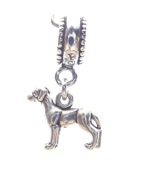 Great Dane Smaller Sterling Silver Dangle Dog Charms - C6114436LNL