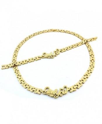 NECKLACE BRACELET XOXO STAINLESS DIAMOND