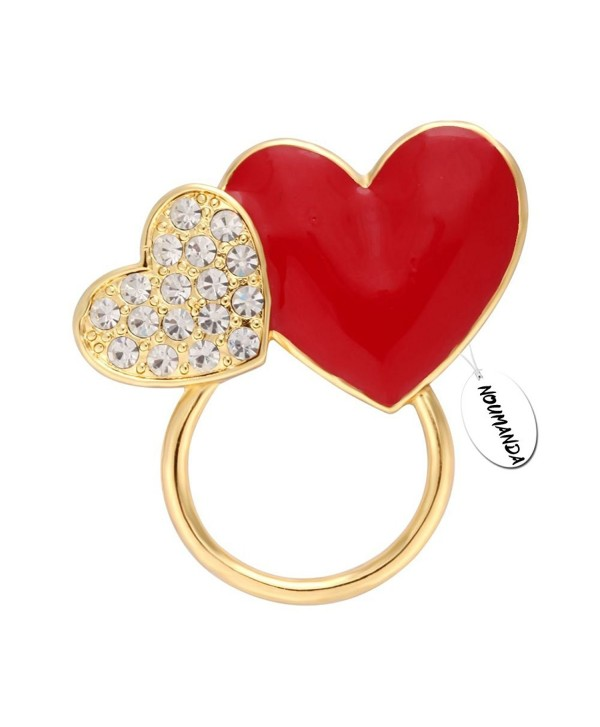 NOUMANDA Crystals Charm Heart-shaped Eyeglasses Holder &Brooch Pin - CN12M9MOCTD